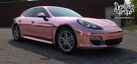 Rose Chrome Porsche Panamera Designer Wraps