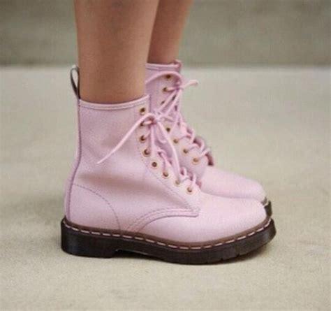 light pink doc martens shoes doc marten combat boots pink wheretoget