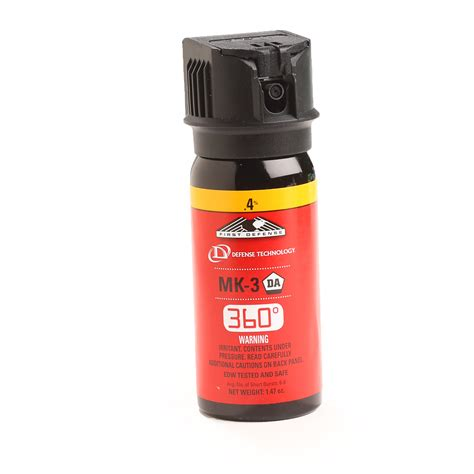 Stoppared Personal Defence Spray With Term Dye by Defense 3600 4 Mk3 Pepper Spray