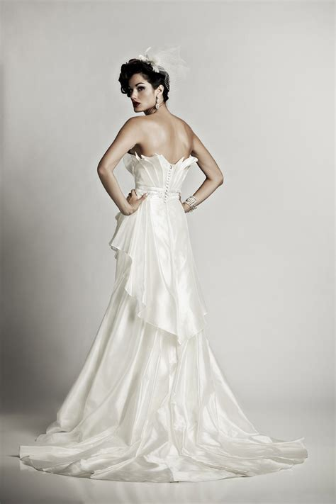 artistic wedding dresses glam matthew christopher ivory silk shantung wedding dress