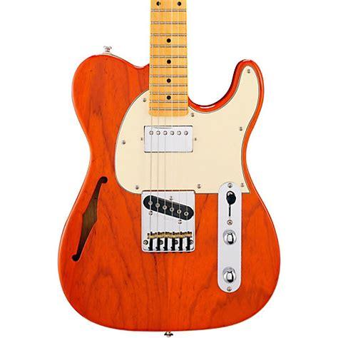 G L Tribute Asat Classic Bluesboy Semi Hollow Clear Orange Maple Neck g l tribute asat classic bluesboy semi hollow electric