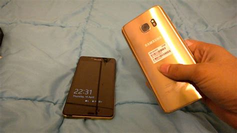 Samsung S7edge Gold Second samsung galaxy s7 edge dual sim gold unboxing and few