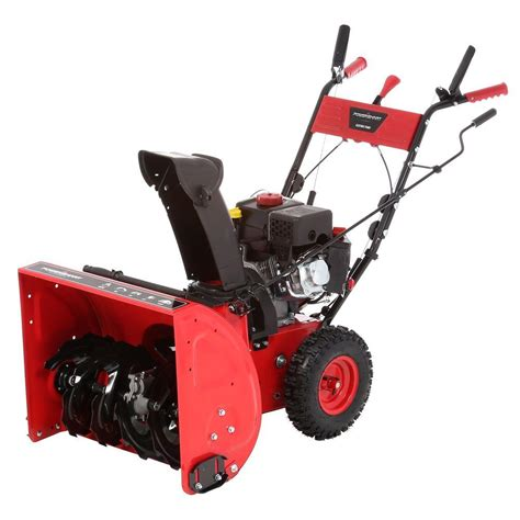powersmart 24 in 208 cc two stage gas snow blower
