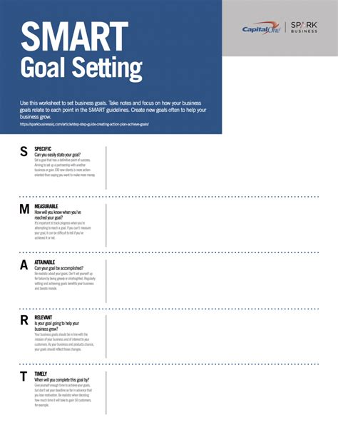 setting smart goals template goal setting worksheet pdf worksheets releaseboard free