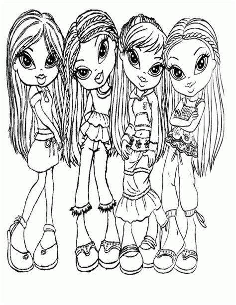 bratz babyz coloring pages coloring home