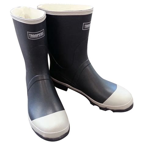 mens gum boots troopers mens rubber gumboots grey size 7 bunnings