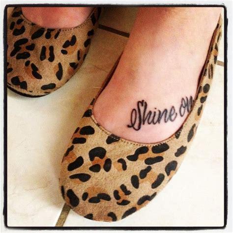 shine on tattoo new shine on me