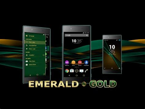 theme creator gold emerald gold theme for xperia app ranking and store data
