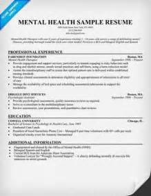 mental health counselor resume sample