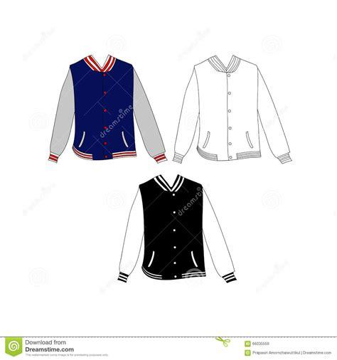 jacket design vector free baseball jacket design vector stock vector image 66035559