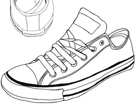 the sneaker coloring book converse drawing 1 by the haunted on deviantart