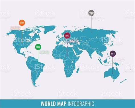 illustration of world map with country name world map infographic template all countries are