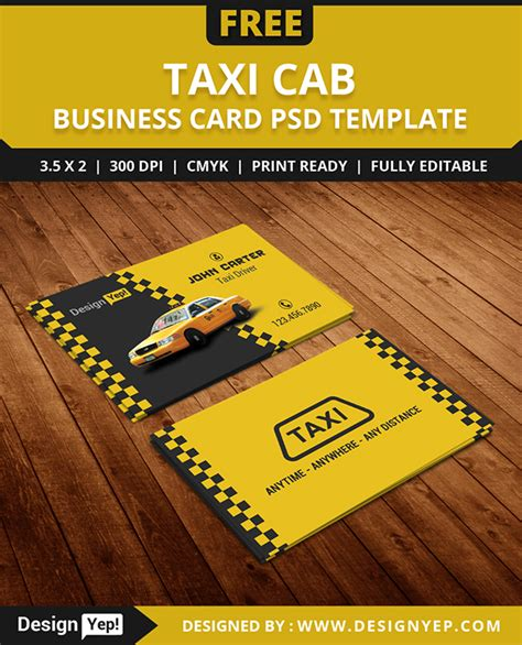 card templates psd behance free taxi cab business card template psd on behance