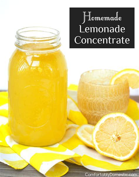 Handmade Lemonade - lemonade concentrate comfortably domestic