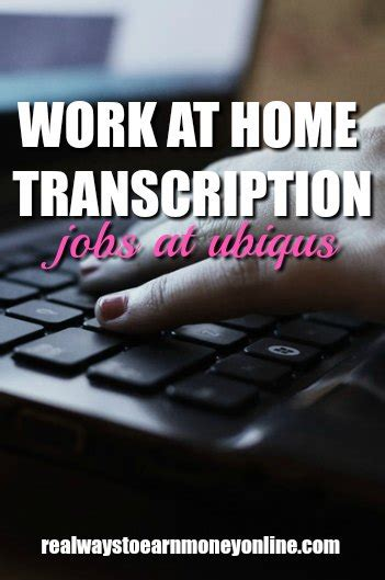 work at home transcription with ubiqus may accept