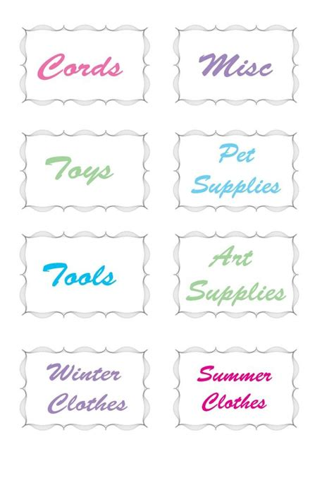 printable labels organizing 1000 images about free printables on pinterest free