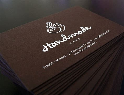 Kartu Nama Browh handmade coffee business cards inspiration cardfaves