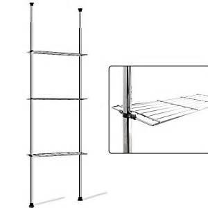 Telescopic Bathroom Shelves Telescopic Storage Shelf Rack Bathroom Kitchen Storage Caddy Shelving Unit Co Uk