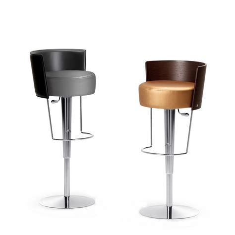 sgabello sedia sgabello moderno in pelle bongo di midj arredaclick