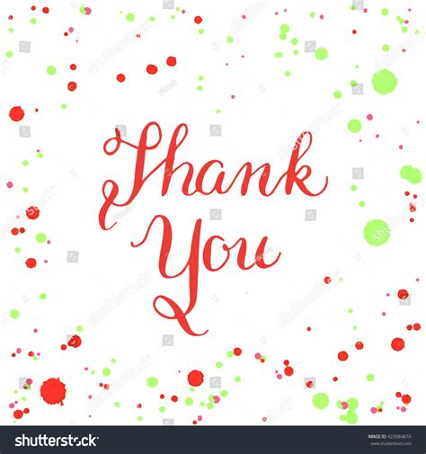 Illustrator Thank You Card Template by Design Poster Greeting Card Flyer Vector Stock Vector