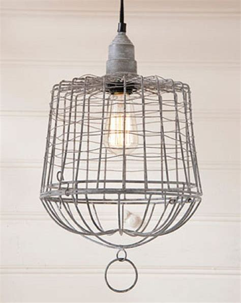 wire cage pendant light egg basket pendant lamp wire cage in weathered zinc finish