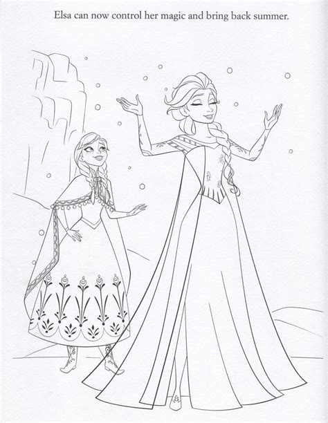 disney store disney elsa coloring pages