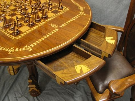 chess table with chairs chess table and chair set award winning woodworking