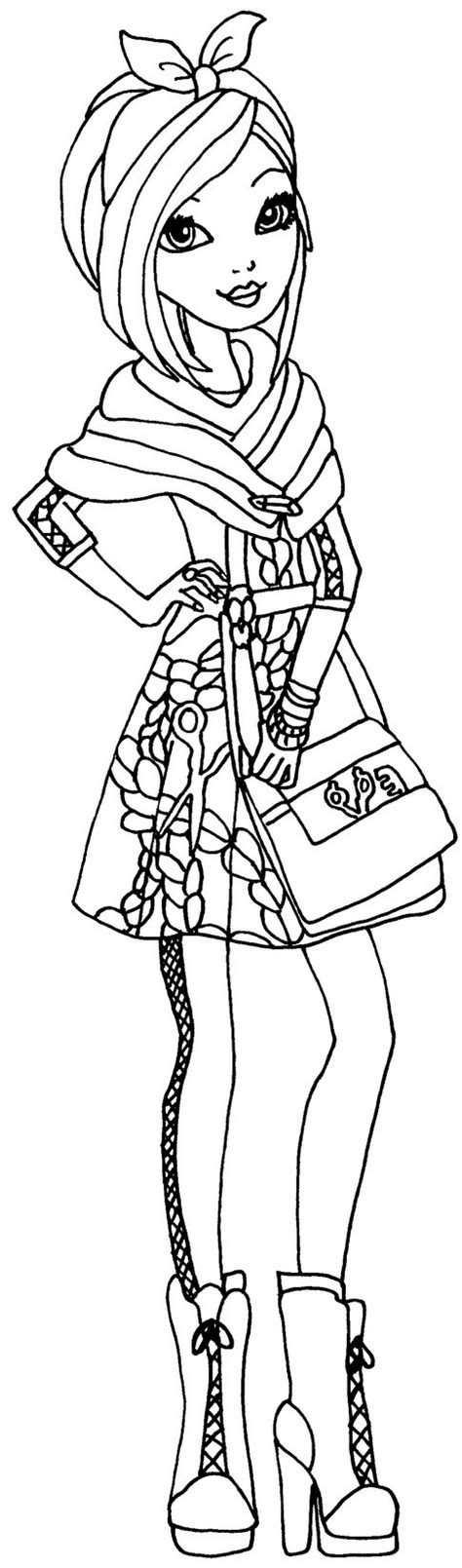 ever after high coloring pages by elfkena poppy o hair by elfkena on deviantart