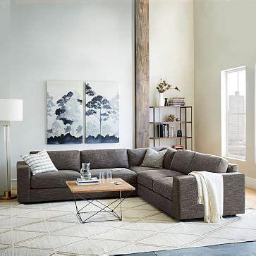 west elm urban sofa review urban 3 piece sectional west elm