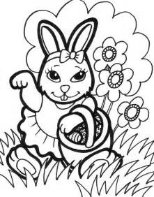 easter bunny coloring page free printable easter bunny coloring pages for
