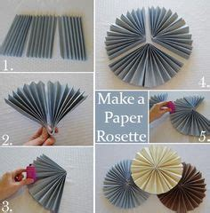 How To Make A Fan Out Of Paper - 1000 ideas about paper rosettes on paper