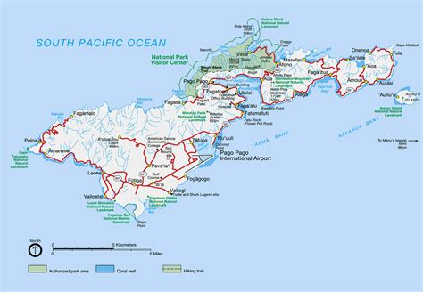 american samoa map large detailed national parks map of tutuila island american samoa with all rivers roads and