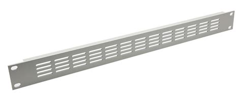 Rack Ventilation by Canford Rackvent Rack Ventilation Panel 1u Aluminium