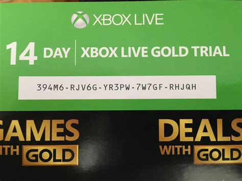 Xbox Live Sweepstakes - xbox live 14 day free trial giveaway xboxone
