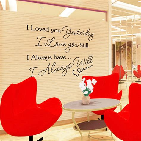 Sticker Wallpaper I Loved You letter i you removable wall sticke decals mural diy wallpaper for room decor