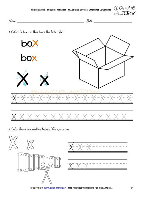 alphabet tracing worksheets how to write letter x