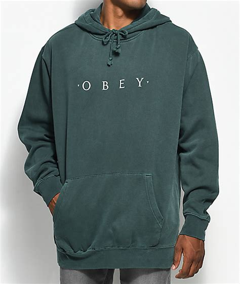 Sweater Basic Obey obey novel dusty forest pullover hoodie zumiez