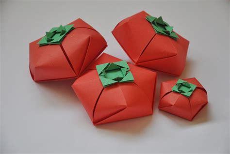 Tomato Origami Boxes Design Carlos Bocanegra