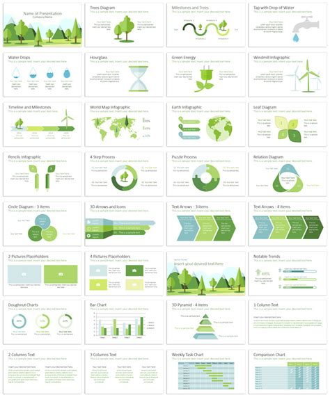 ecology powerpoint template presentationdeck