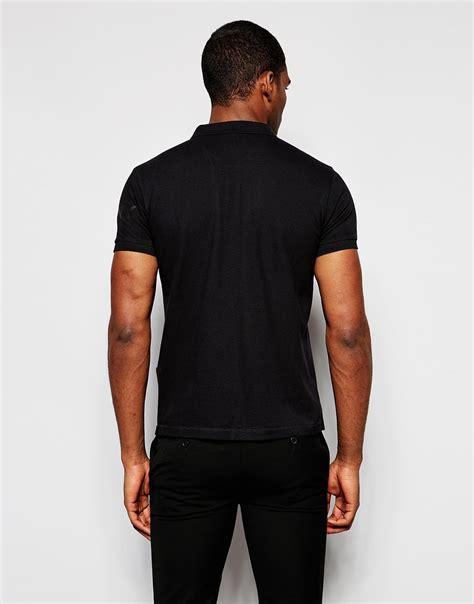 Sleeve Logo Polo Shirt dkny polo shirt sleeve logo in black for lyst