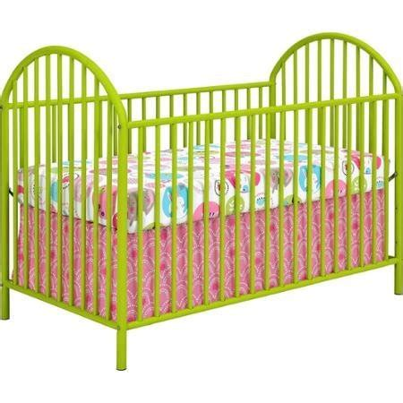 cosco maxwell metal crib adjustable mattress height with 3 locations green buy in