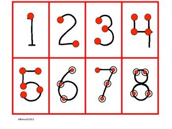 printable touch math number line touch point numbers 1 9 free by superteach56 teachers