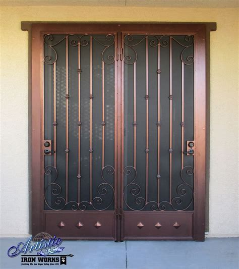 Iron Patio Doors 242 Best Images About Wrought Iron Security Doors On Kick Plate Models And Home
