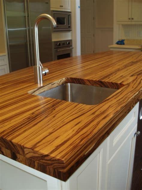 Wood Like Countertops by Zebra Wood Countertop Home Inspirations
