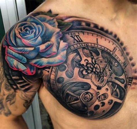 rose shoulder tattoos for men 80 3d tattoos for three dimensional illusion ink