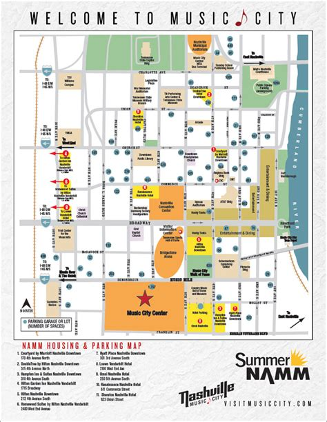downtown nashville map summer namm namm org