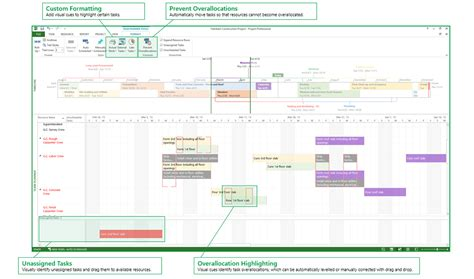 managing project schedules in project professional vs