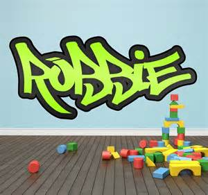 Personalised Name Wall Stickers For Kids personalised graffiti name wall sticker kids transfer huge