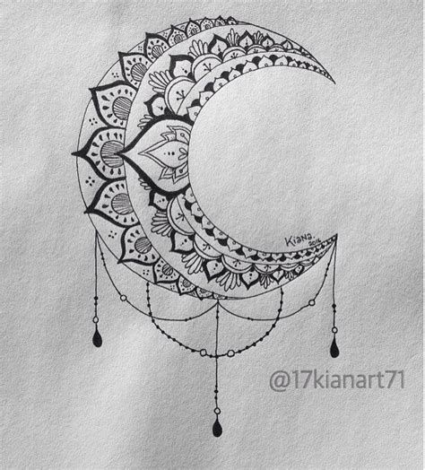 moon mandala tattoos pinterest moon mandala mandala