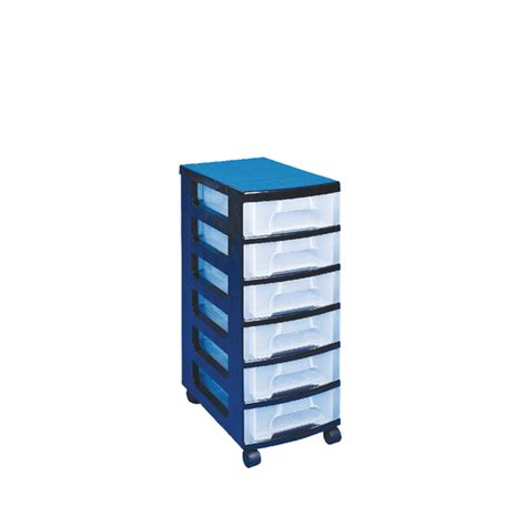 Plastic Drawer Storage Tower by Really Useful Black Plastic Storage Tower With 6 Drawers